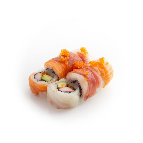 Sushi specialroll Rainbow - delivery Nitra
