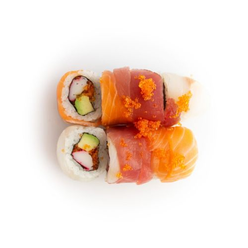 Sushi specialroll Rainbow - sushi delivery Nitra